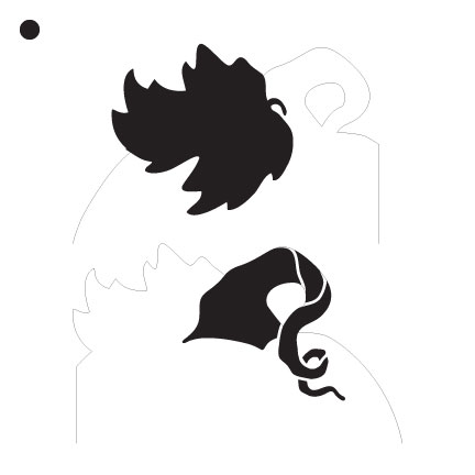 "Pumpkin Coaster Art Stencil - 6""x6"""