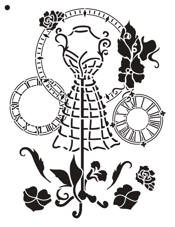 "A Stitch in Time - Art Stencil - 8.5"" x 11"" - Victorian"