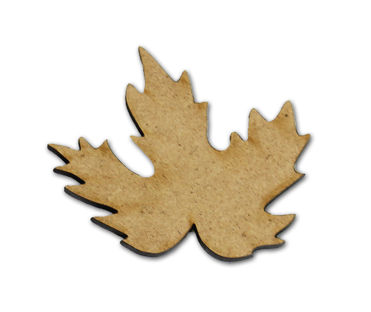 "Fall Leaf Wood Embellishment - 2.5"" x 2.5"""