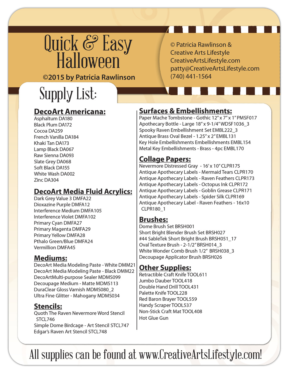 Quick and Easy Halloween Projects DVD - Patricia Rawlinson