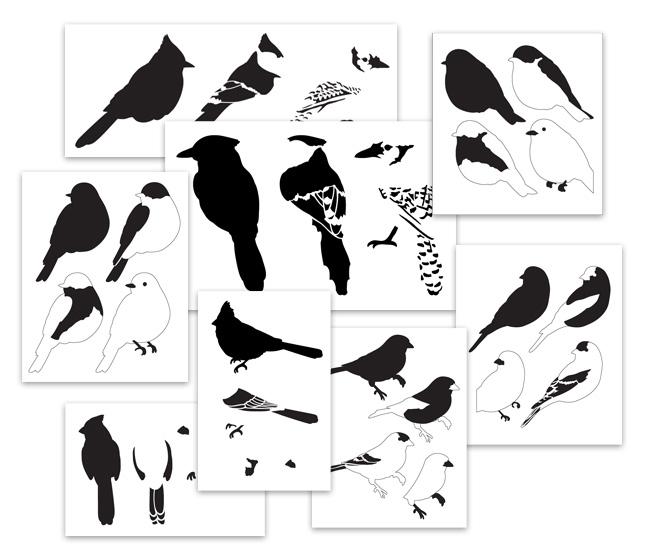Songbird Stencil Set Vol. 1  Layered Art Stencil Set