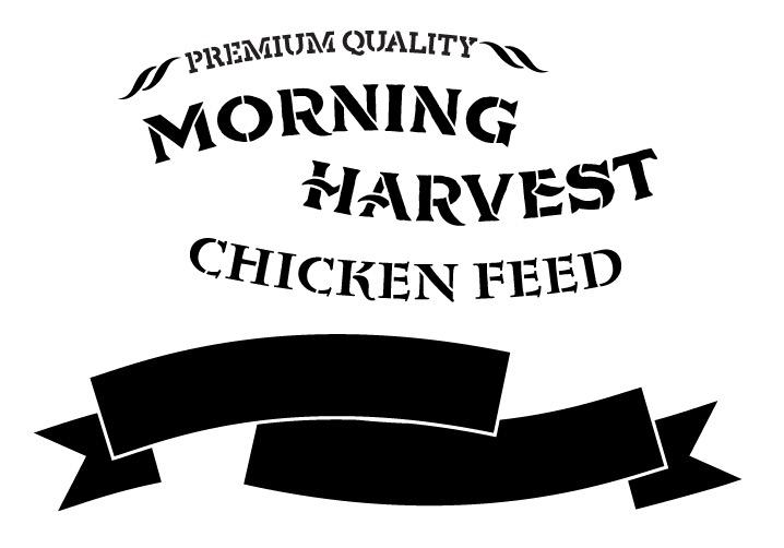 Chicken Feed Word Art Stencil