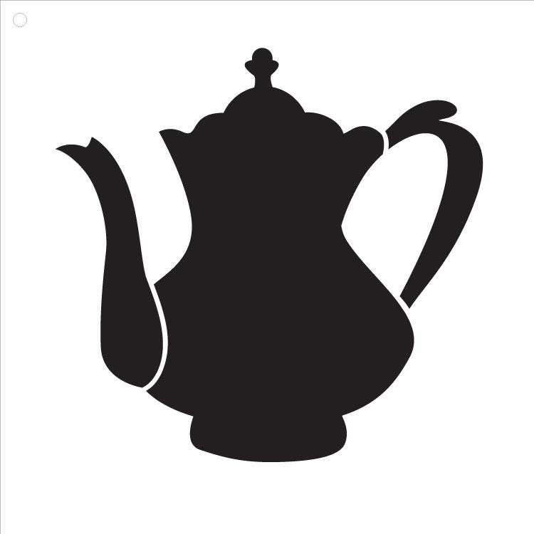 "Fancy Teapot Art Stencil 15"" X 15"""