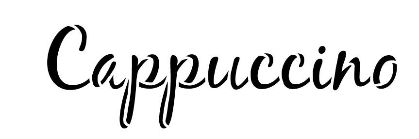 """Cappuccino Word Art Stencil-Casual Script - 18"""" X 6"""""""