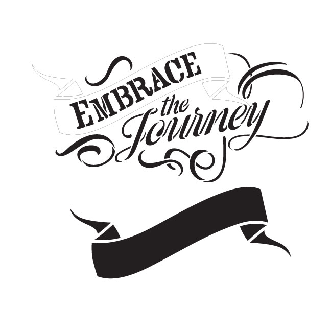 "Embrace the Journey Word Art Stencil 9"" X 9"""