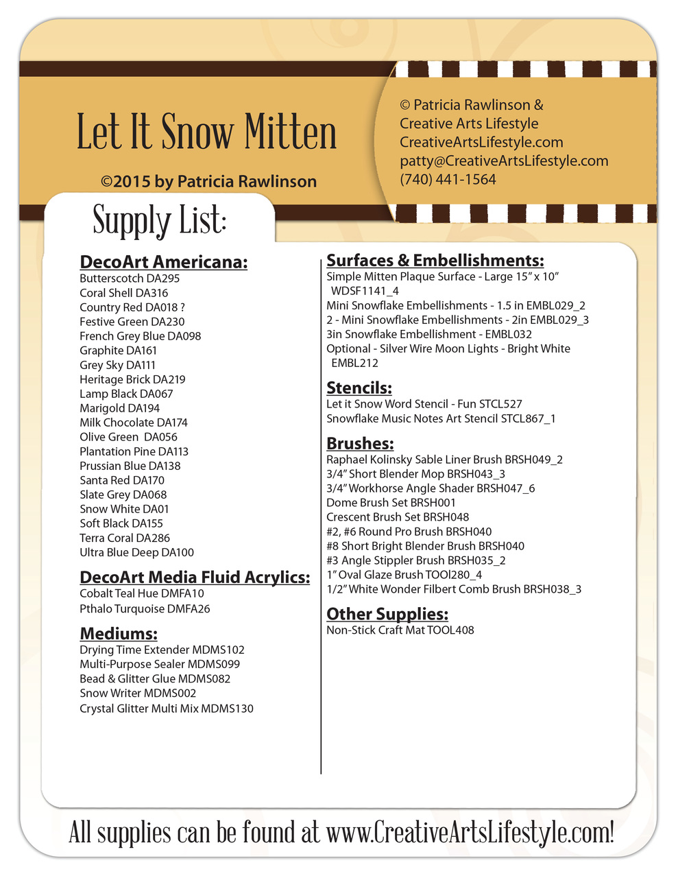 Let It Snow Mitten DVD and Pattern Packet - Patricia Rawlinson