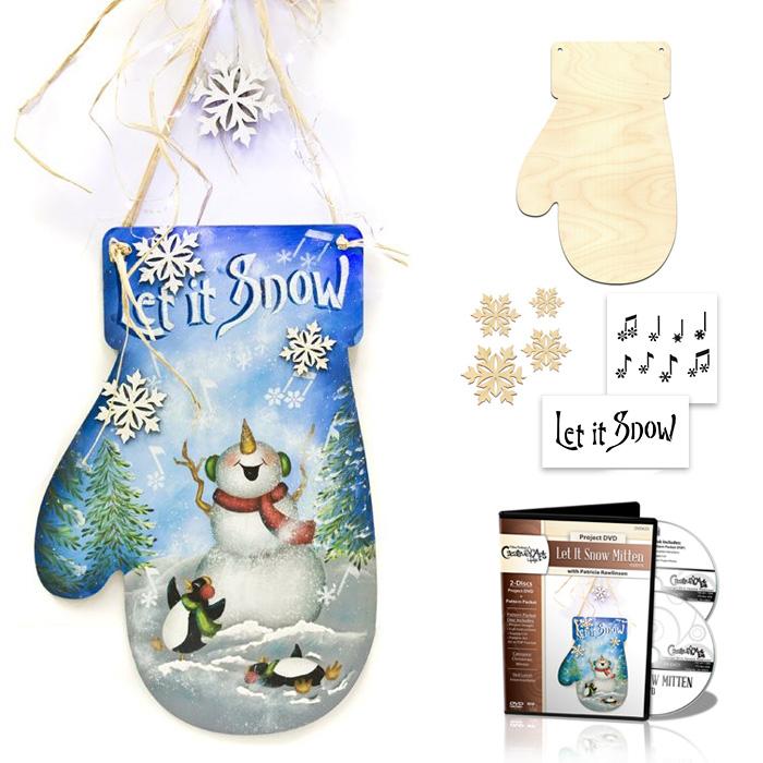Let It Snow Mitten Deluxe Set