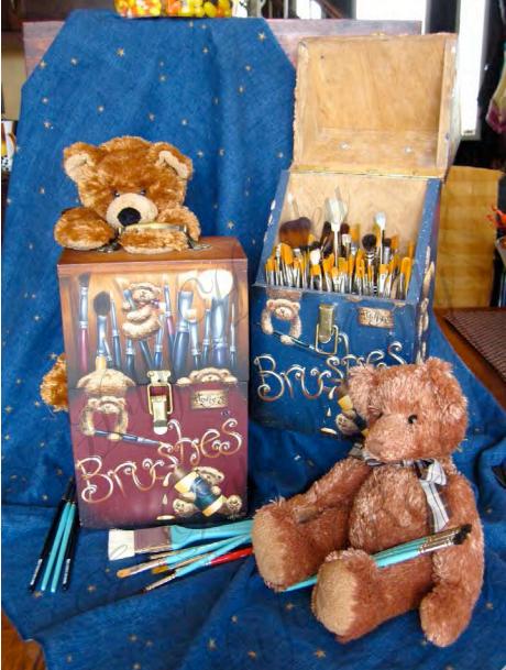 Busy Bears Brush Box - E-Packet - Holly Hanley