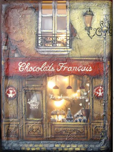 Chocolats Francais Glass Block - E-Packet - Holly Hanley