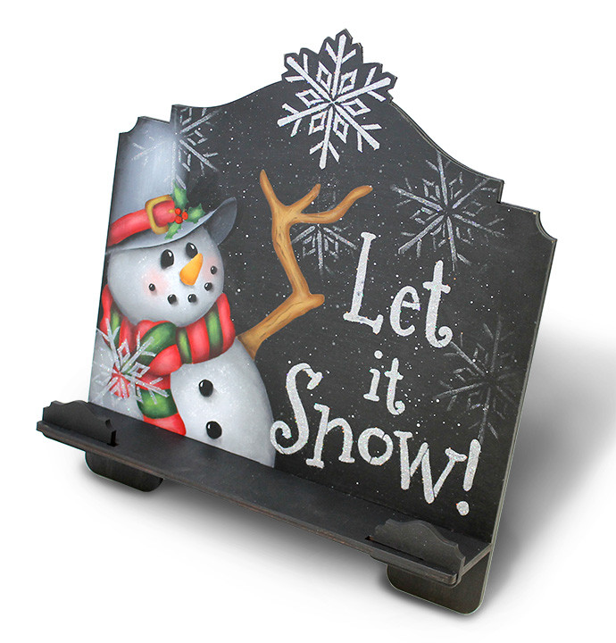 Let It Snow Cookbook Stand - E-Packet - Patricia Rawlinson