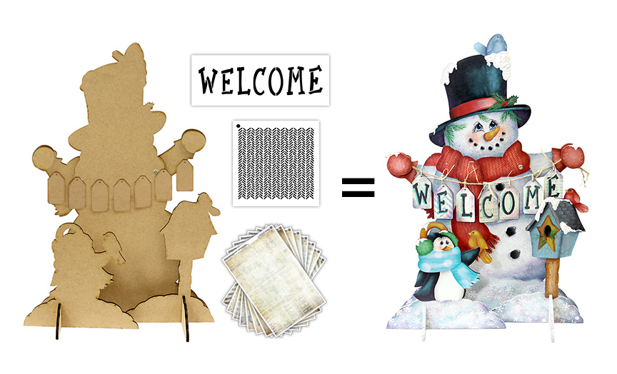 Snowman and Friends Surface Deluxe Set
