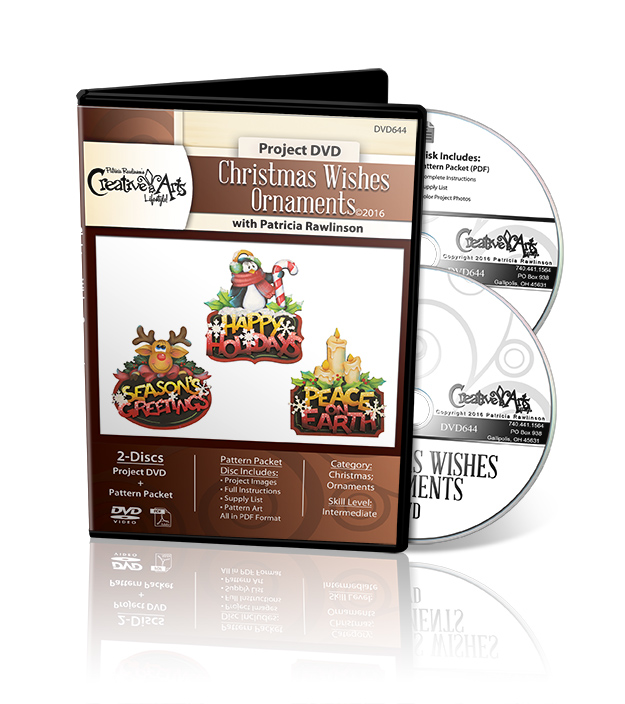 Christmas Wishes Ornaments DVD and Pattern Packet - Patricia Rawlinson