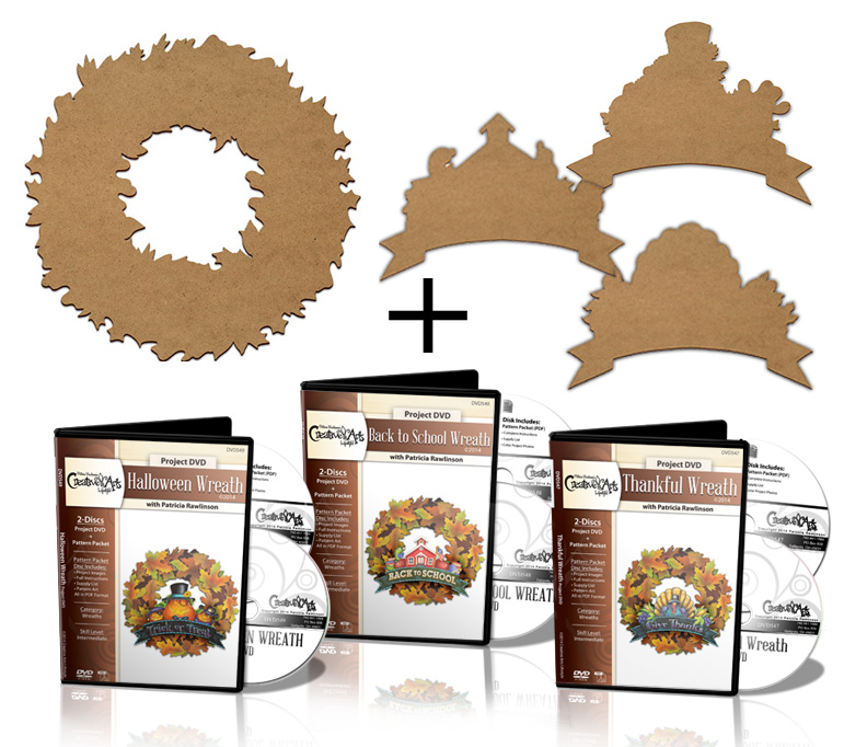 Leaf Wreath Deluxe Project Surface Set + 3 DVD Combo