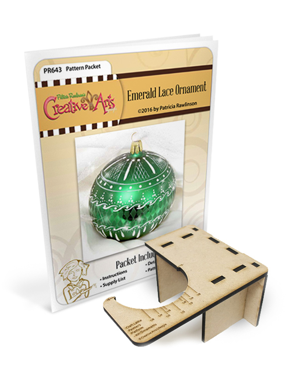 Emerald Lace Packet & Craft Lathe Painter's Platform - for 4in Ornaments