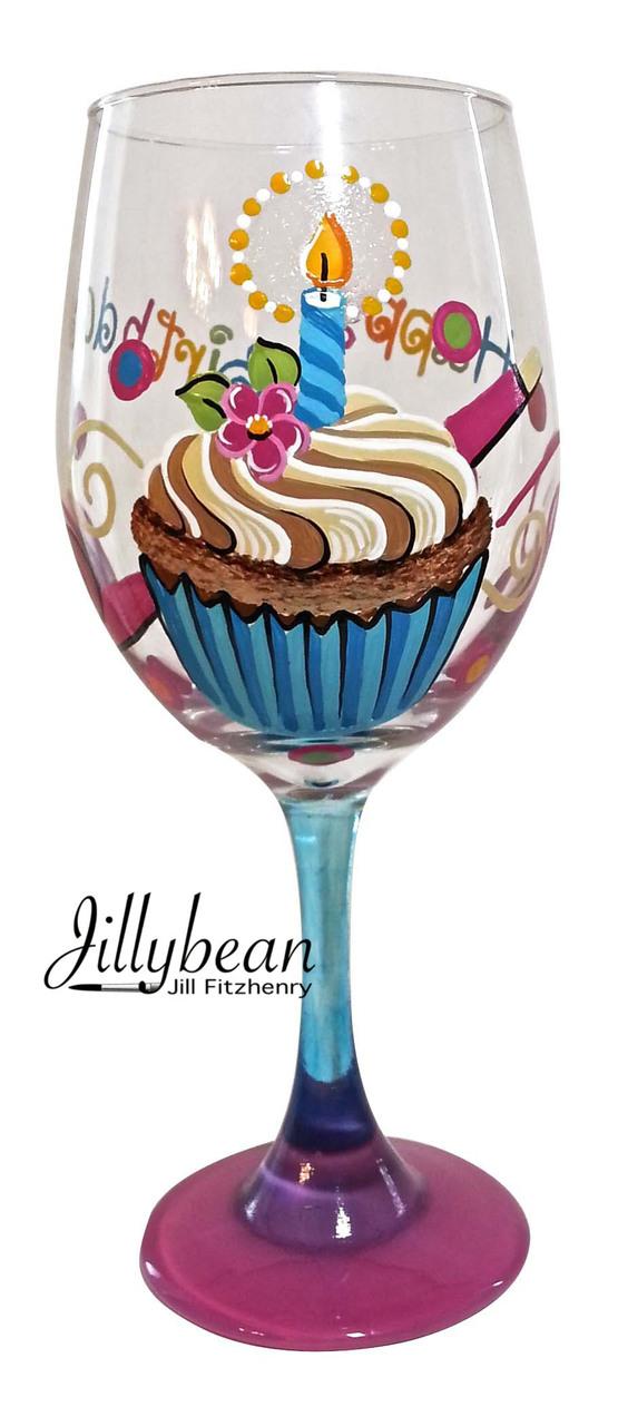 Birthday Cupcake Glass - E-Packet - Jill Fitzhenry