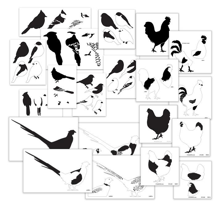 Song & Farm Birds Deluxe Layered Stencil Set