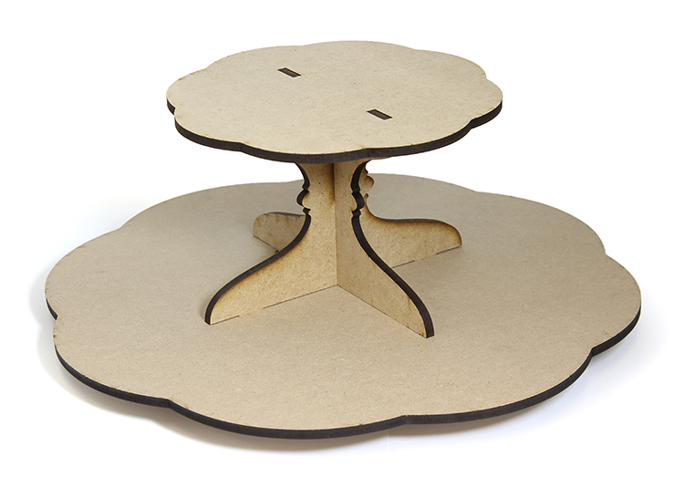 Scalloped Lazy Susan with Tier - Includes Base