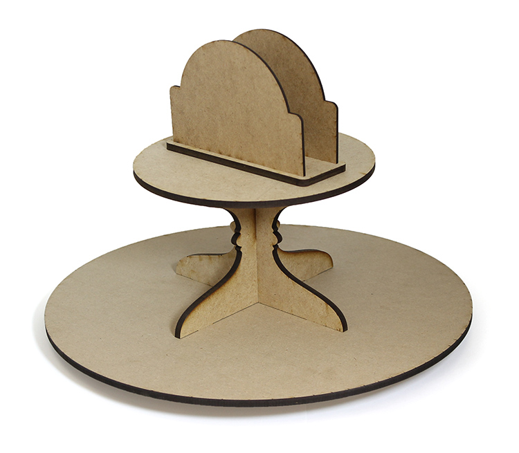 Round Lazy Susan with Napkin Holder - Includes Base