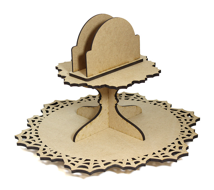 Spiderweb Lazy Susan with Napkin Holder - Includes Base