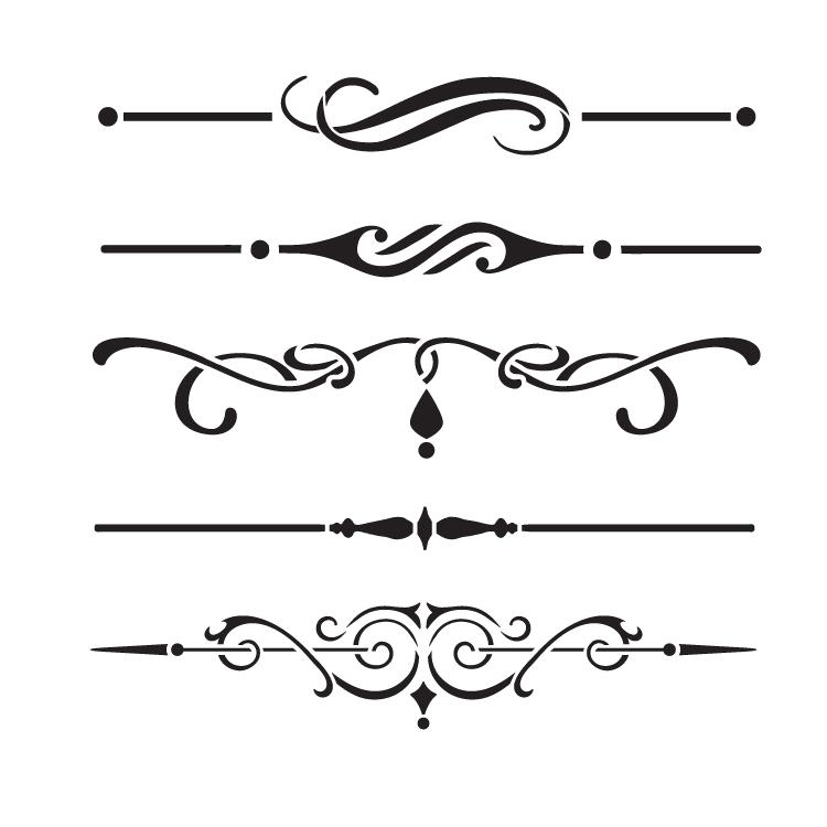 underline accents art stencil 9 quot  x 9 quot  stcl1120 2 furniture clipart top view furniture clip art sketches