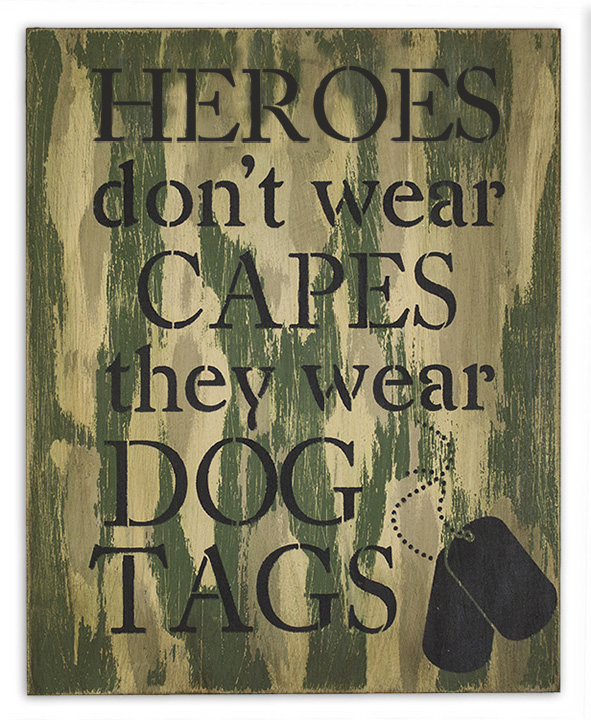 Heroes Wear Dog Tags Pattern Packet - Patricia Rawlinson