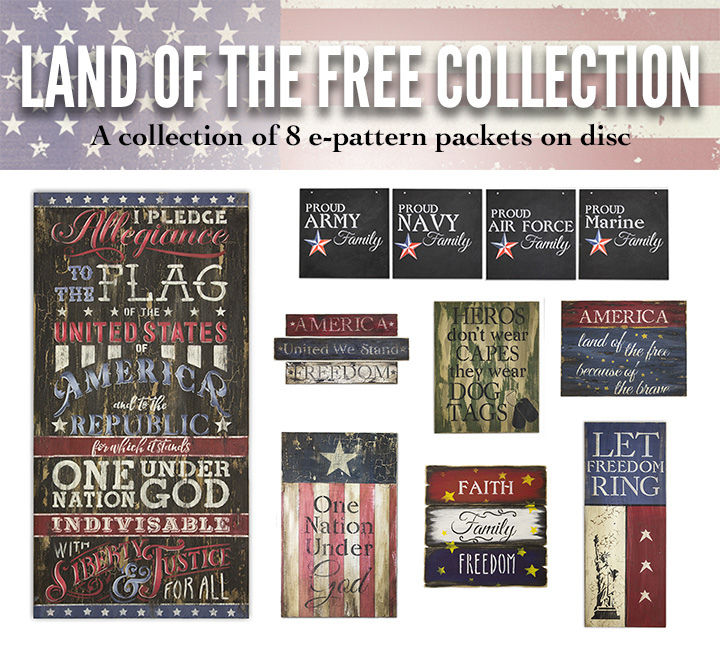 Land of The Free Digital Packet Collection on Disc