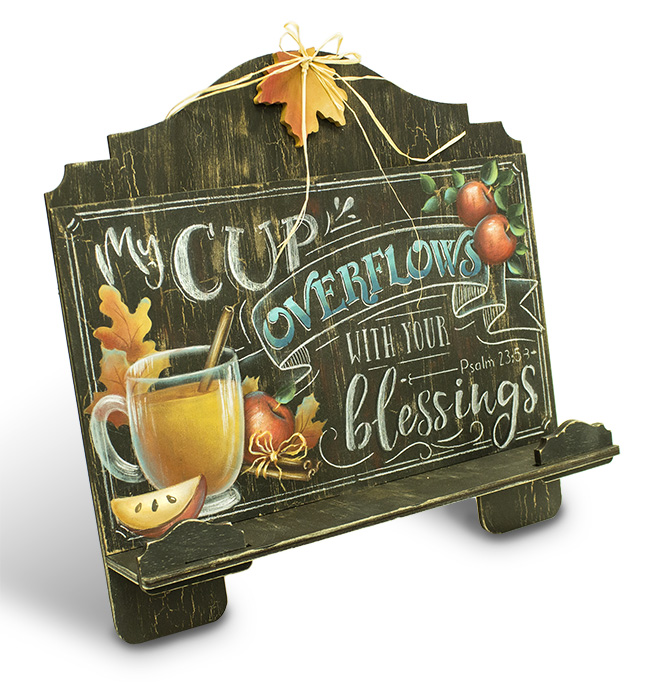 Cup of Blessings Cookbook Stand Pattern Packet - Patricia Rawlinson