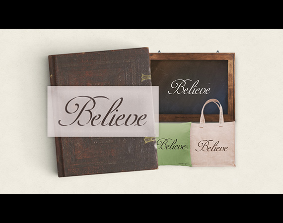 "Believe - Word Stencil - 8""x3"" - STCL311_1"
