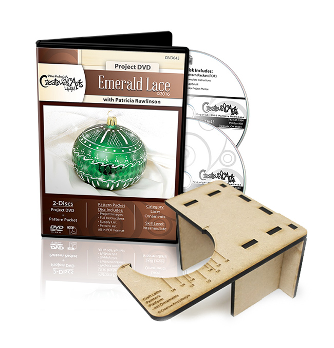 Emerald Lace DVD & Craft Lathe Painter's Platform - for 4in Ornaments