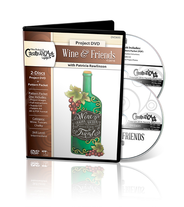 Wine & Friends - DVD and Pattern Packet - Patricia Rawlinson