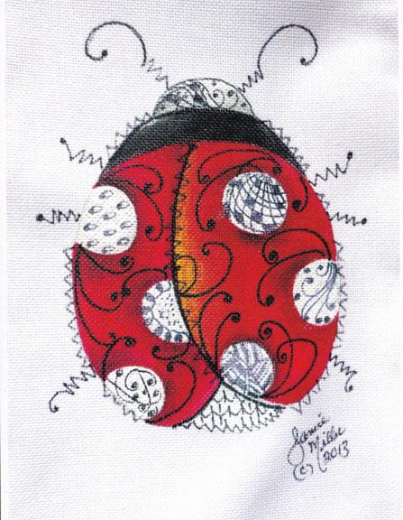 """Jan"" Entangled Ladybug - E-Packet - Janice Miller"