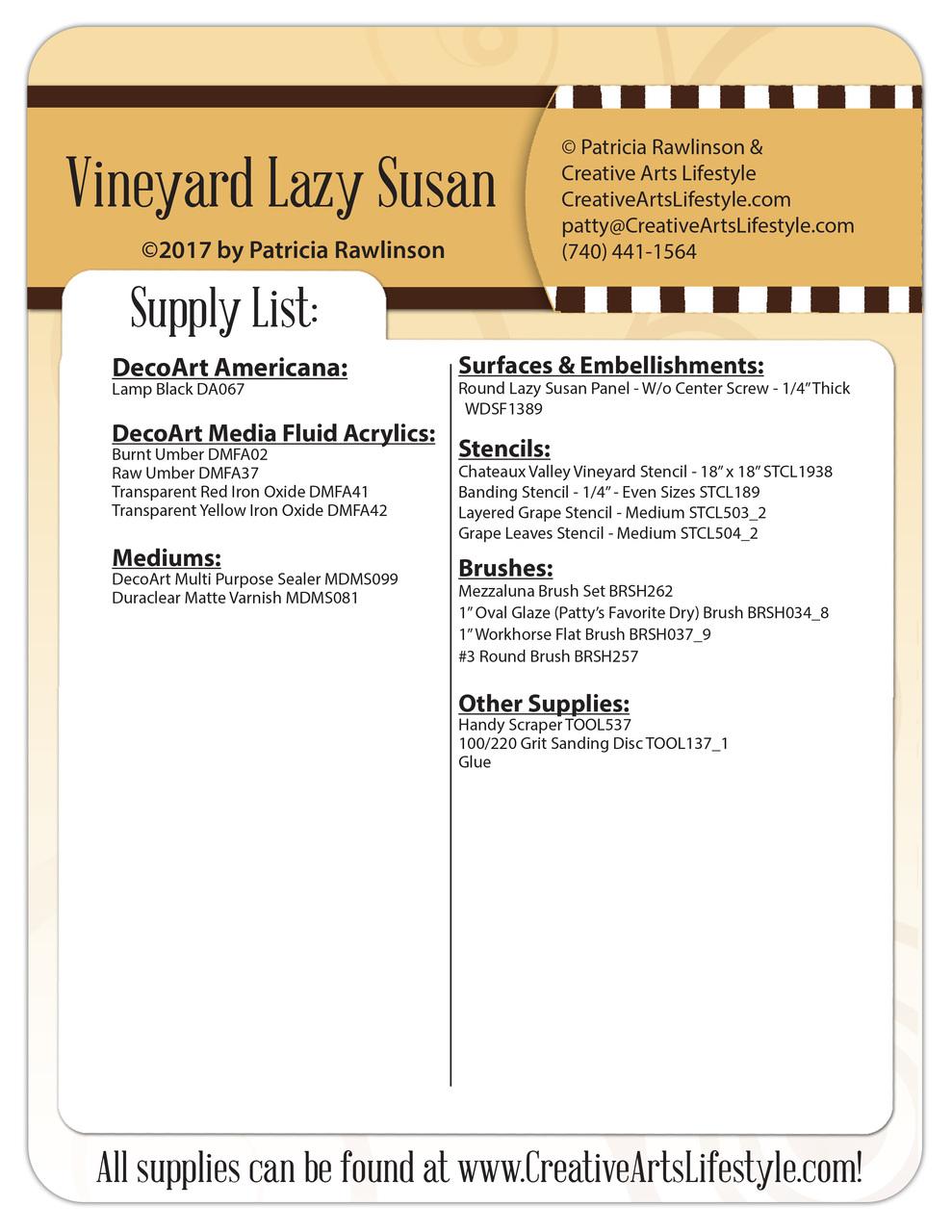 Vineyard Lazy Susan - DVD and Pattern Packet - Patricia Rawlinson