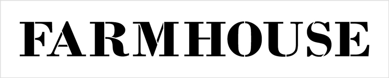"Farmhouse - Country Serif - Word Stencil - 21"" x 4"" - STCL1969_2 - by StudioR12"