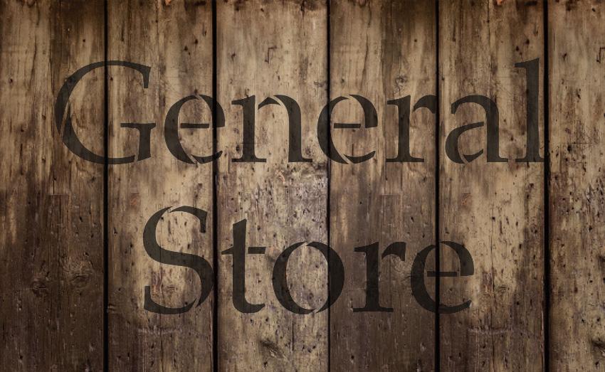 "General Store - Serif - Word Stencil - 13"" x 8"" - STCL2069_1 - by StudioR12"