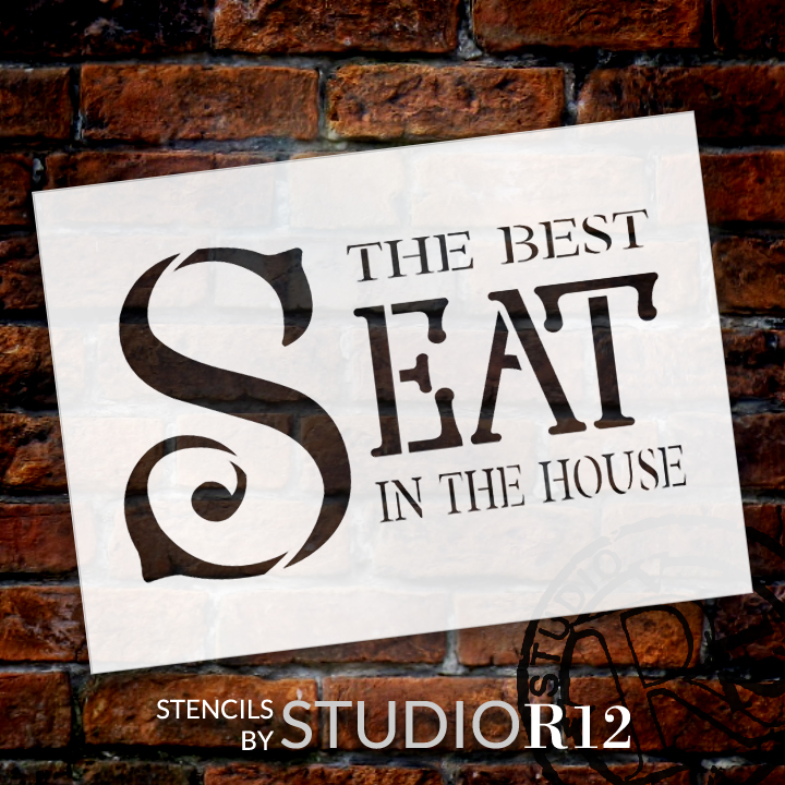 "Best Seat - Formal - Word Stencil - 17"" x 11"" - STCL2165_3 - by StudioR12"