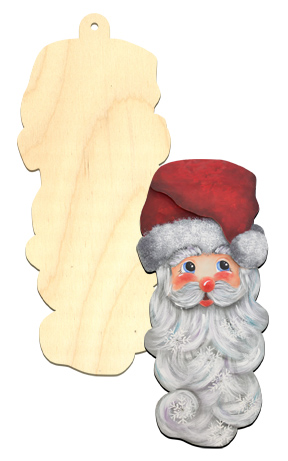 Wood ornament - Ho ho Ho Santa