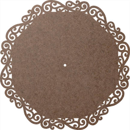 "Scroll Lazy Susan Panel - 3/16"" Hole"