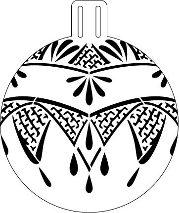 """Art Deco Lace Ornament Stencil - 5"""""""