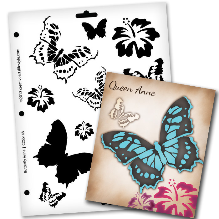 """Butterfly  Magic Anne Stencil - 8 1/2"""" x 11"""""""