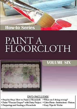 How To Paint a Floorcloth: Painting Techniques DVD Series Volume 6