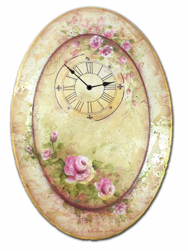 Oval Rose Clock DVD & Pattern Packet - Patricia Rawlinson