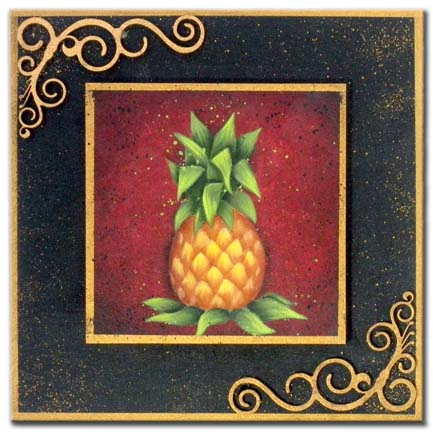 All Season Plaque - Pineapple DVD & Pattern Packet - Patricia Rawlinson