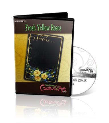 Fresh Yellow Rose DVD & Pattern Packet - Patricia Rawlinson