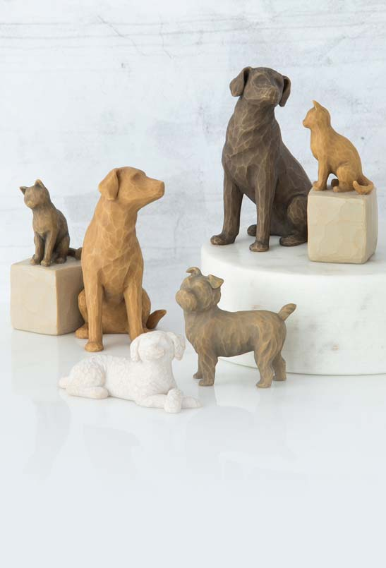 Willow Tree dog and cat figures