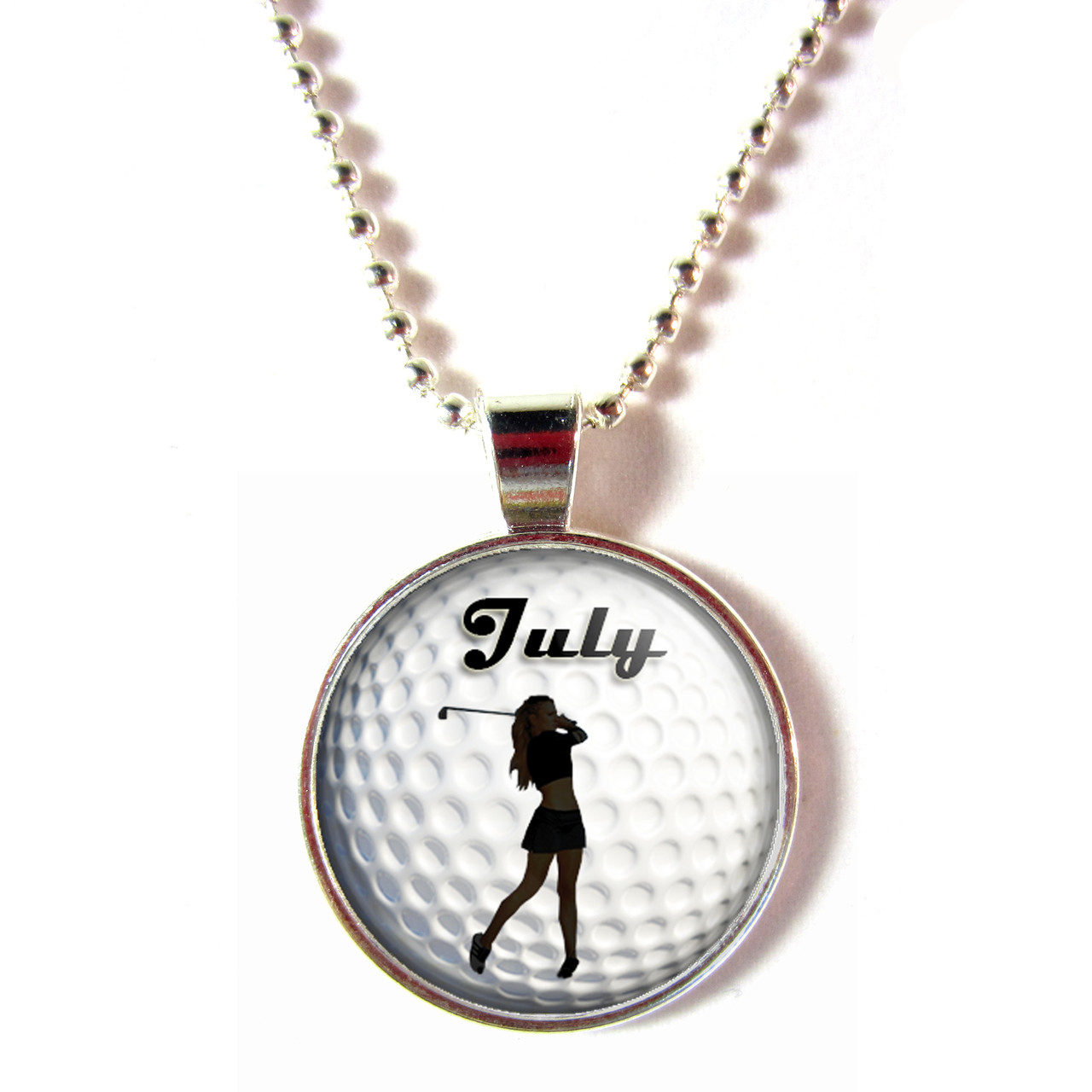 Personalized 3d glass golf ball necklace with your name female aloadofball Choice Image