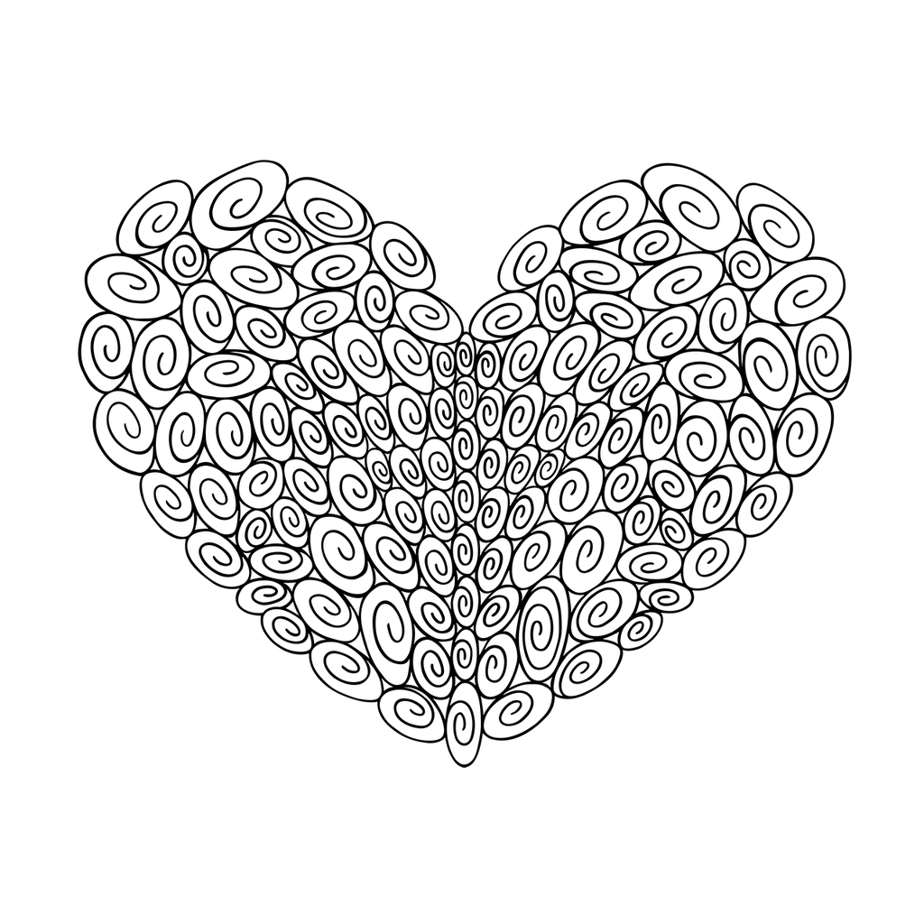 120 Swirl Heart : Love Collection : Canvas