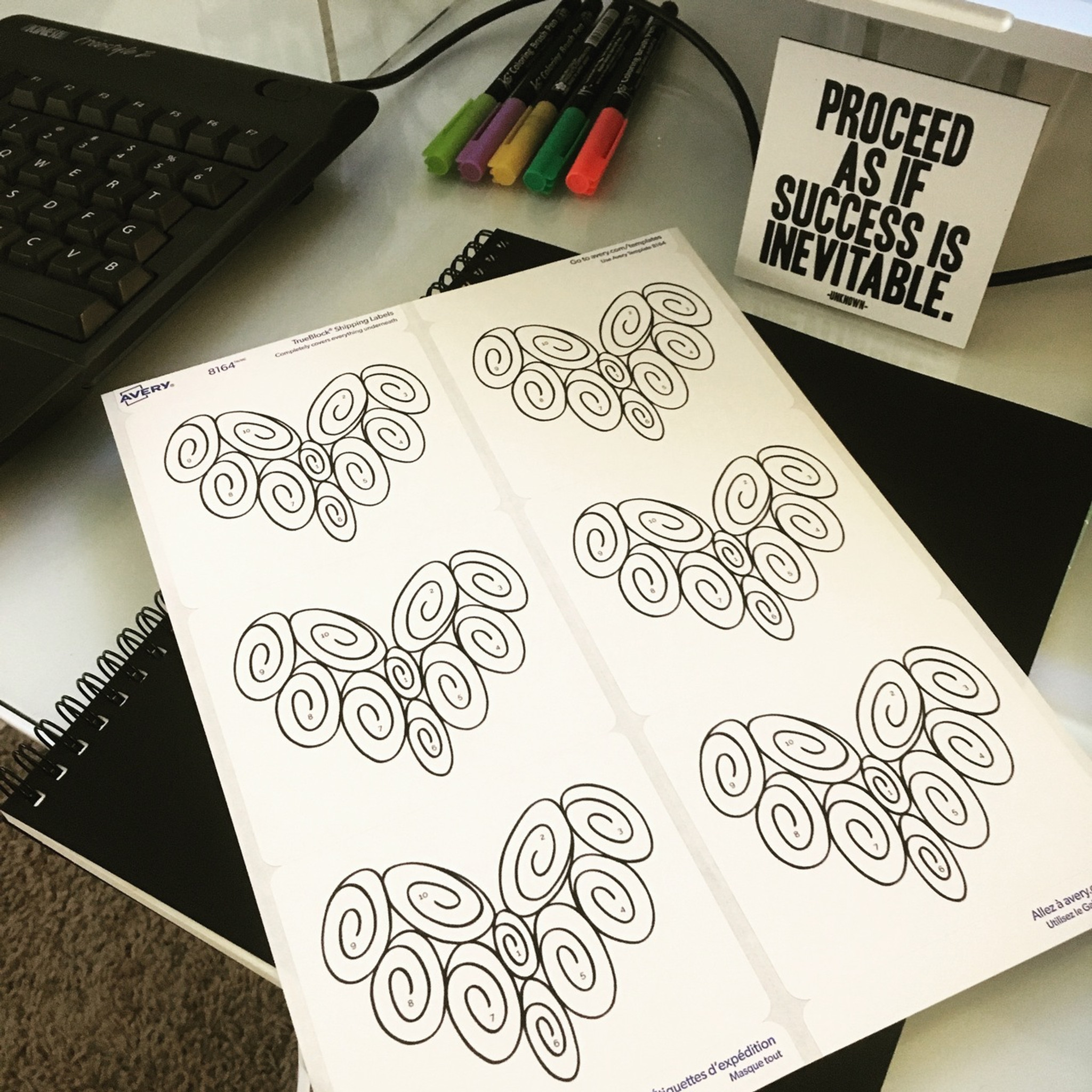 When you print out this PDF on the Avery labels (detailed instructions and link in description), you'll have six 10 Swirl Hearts that are numbered 1-10 and ready to be applied to your favorite journal or planner.