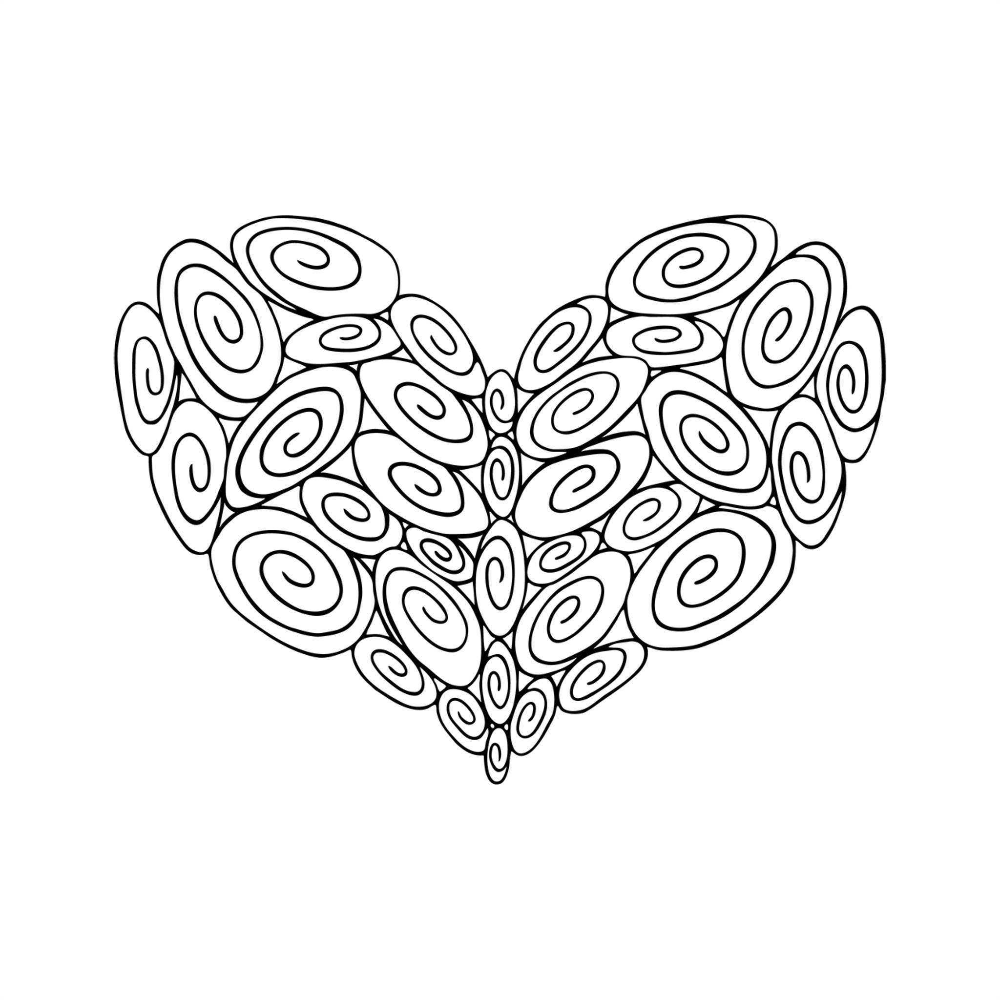 35 Swirl Heart : Love Collection : Download