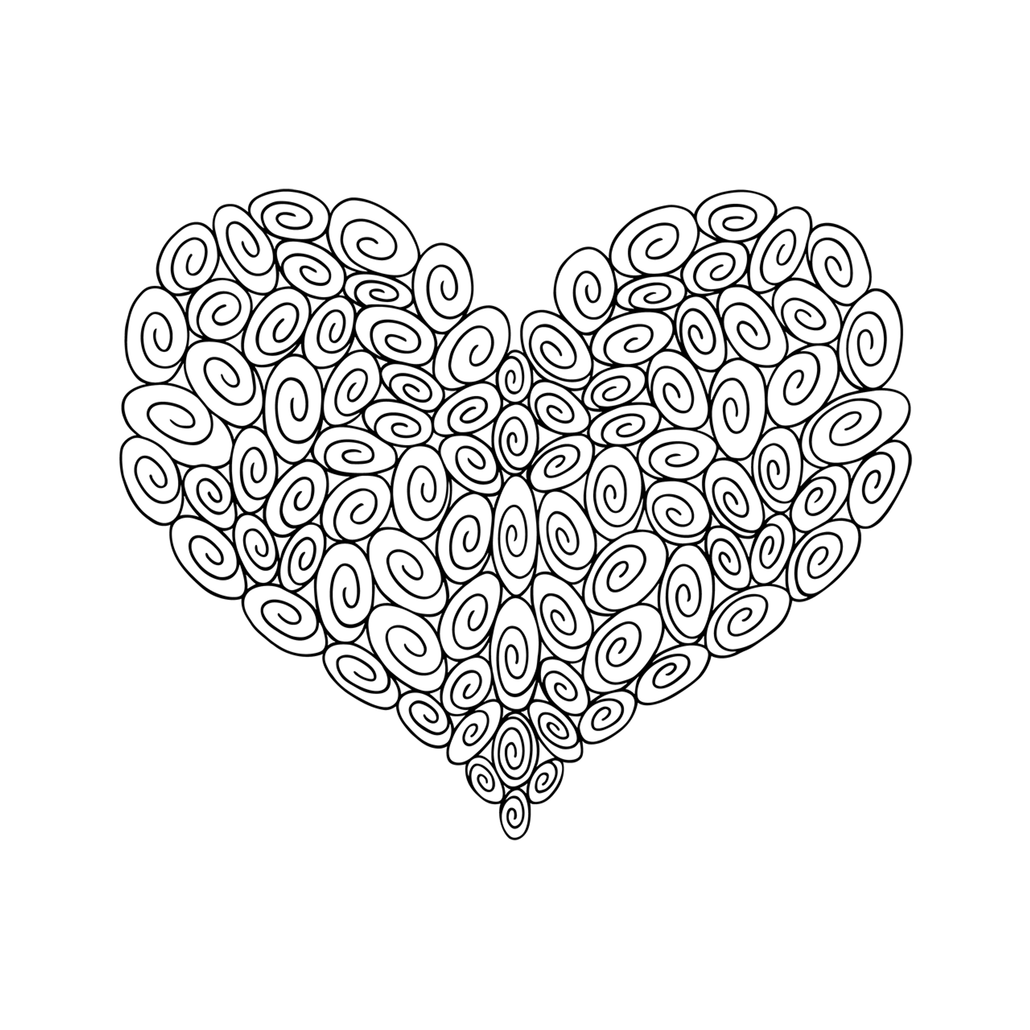90 Swirl Heart : Love Collection : Download