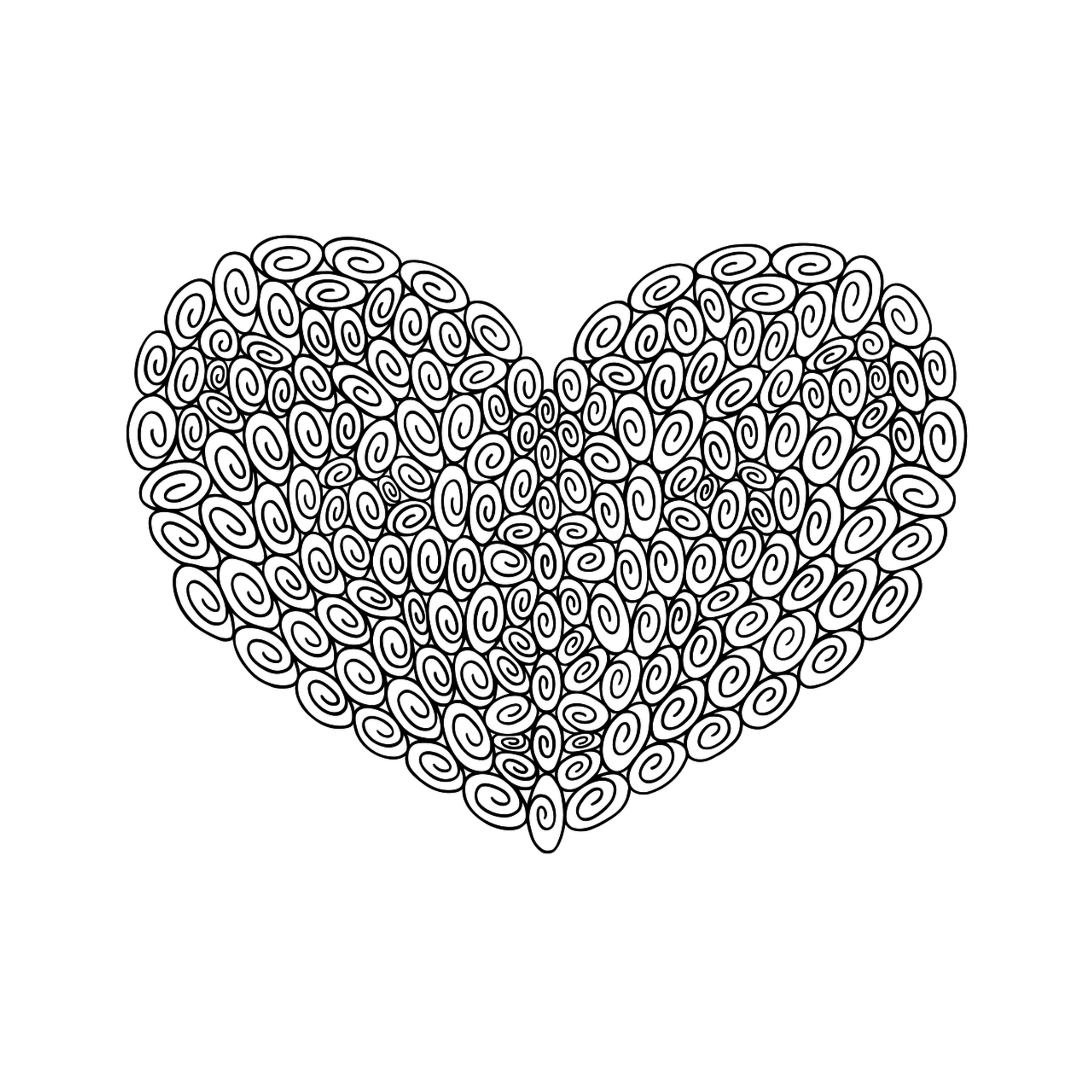 180 Swirl Heart : Love Collection : Download